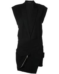 Vestido de esmoquin negro de Alexandre Vauthier