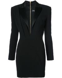 Vestido de esmoquin negro de Balmain