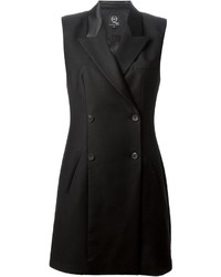 Vestido de esmoquin negro de McQ by Alexander McQueen