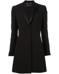 Vestido de esmoquin negro de Versace