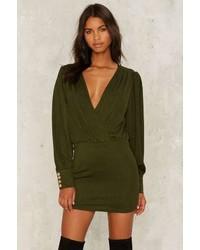 Vestido de esmoquin verde oliva original 10498721