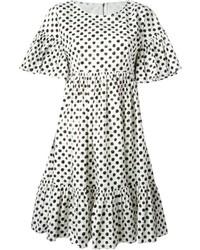 Vestido de fiesta a lunares en blanco y negro de Dolce & Gabbana
