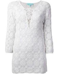 Vestido de fiesta de crochet blanco de Melissa Odabash