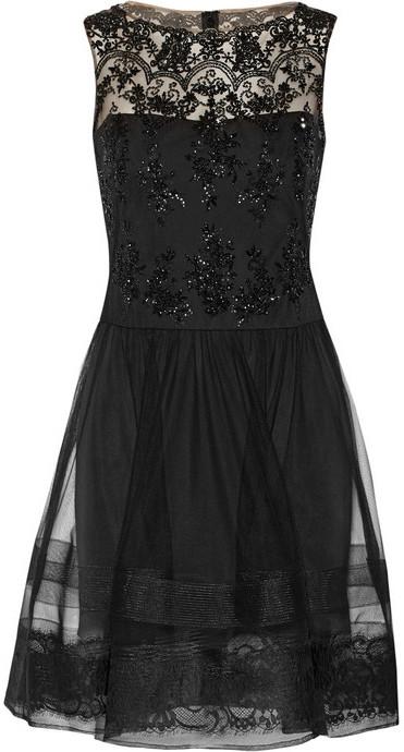 Vestido de Fiesta de Tul Negro de Notte by Marchesa