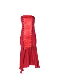 Vestido de Fiesta Rojo de Romeo Gigli Vintage