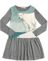 Vestido de lana gris