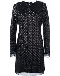 Vestido de lentejuelas acolchado negro de Ungaro