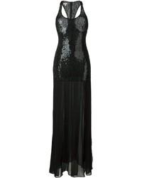 Vestido de Lentejuelas con Adornos Negro de Michael Kors