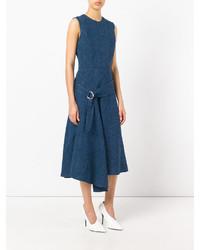 Vestido de lino azul marino de Victoria Beckham