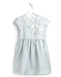 Vestido de lino bordado blanco de Il Gufo