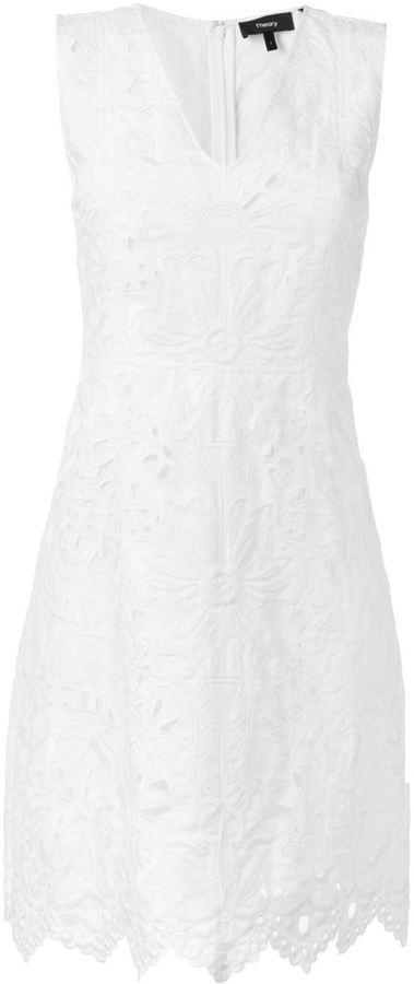 Vestido de lino bordado blanco