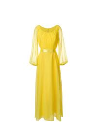 Vestido de Noche Amarillo de William Vintage