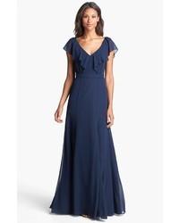Vestido de noche azul marino original 1392945