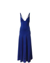 Vestido de noche azul de Ralph Lauren