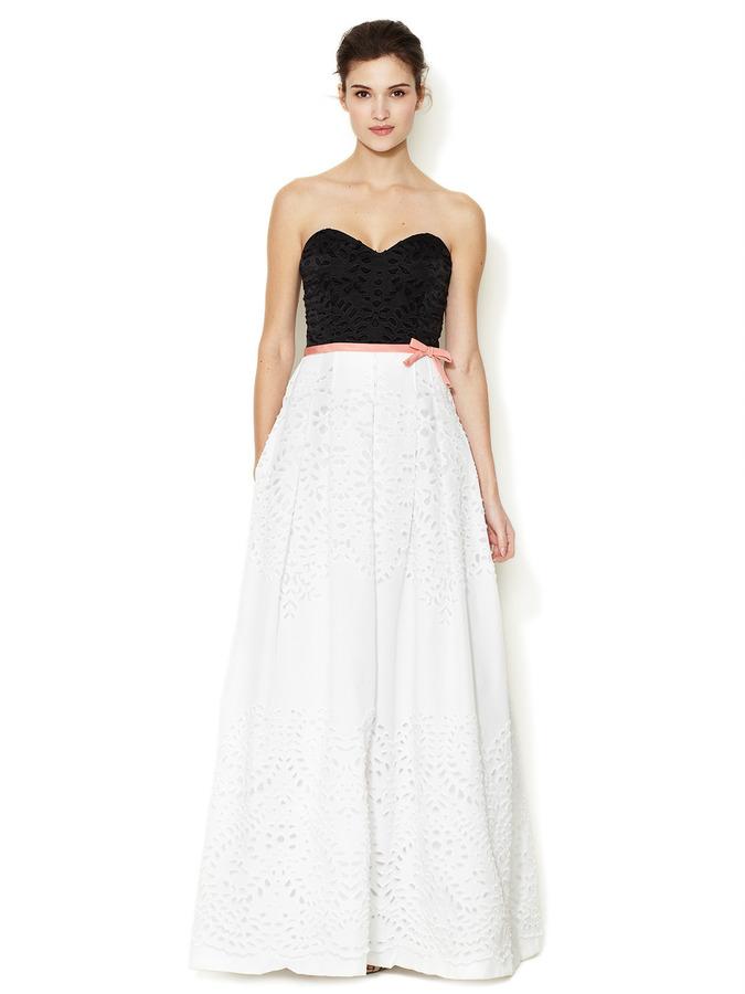 Vestidos de noche blanco con negro