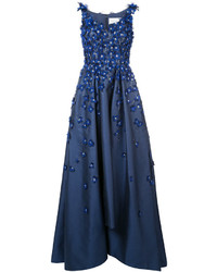 Outfit vestido azul de noche