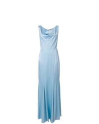Vestido de noche celeste de Moschino
