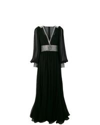 Vestido de noche con adornos negro de Dolce & Gabbana