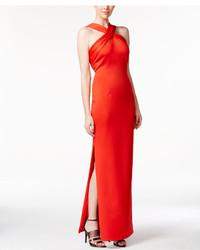 Vestido de Noche con Recorte Rojo de Calvin Klein