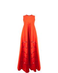 Vestido de Noche con Recorte Rojo de Maison Rabih Kayrouz