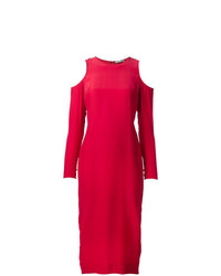Vestido de Noche con Recorte Rojo de Piamita