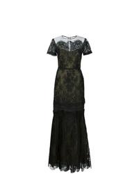 Vestido de noche de encaje negro de Carolina Herrera