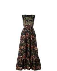Vestido de Noche de Flores Negro de Antonio Marras