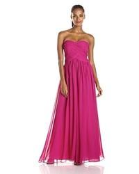 Vestido de Noche de Gasa Rosa de JS Boutique