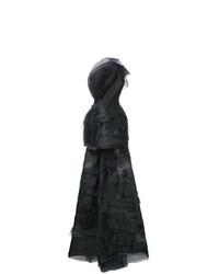 Vestido de noche de malla negro de Isabel Sanchis