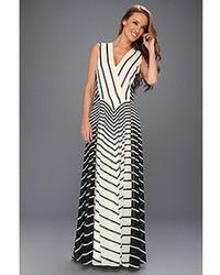 Vestido negro y blanco a rayas