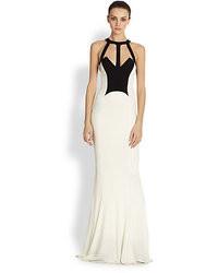 Vestido de noche en blanco y negro