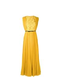 Vestido de Noche Plisado Amarillo de Giambattista Valli