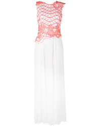 Vestido de Noche Plisado Blanco de Talbot Runhof