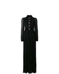 Vestido de noche plisado negro de Gucci