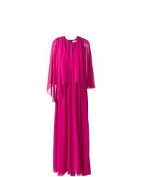 Vestido de noche plisado rosa de MSGM