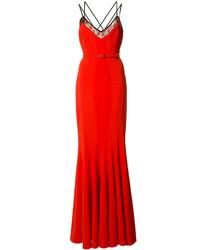 Vestido de Noche Rojo de Zac Posen