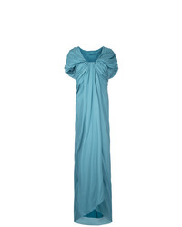 Vestido de noche tejido en turquesa de Paule Ka