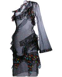 Vestido de seda a lunares negro de Givenchy
