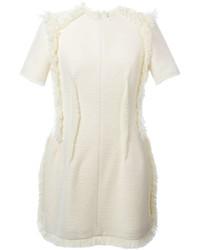Vestido de seda en beige de Lanvin