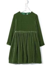 Vestido de terciopelo verde oscuro de Il Gufo