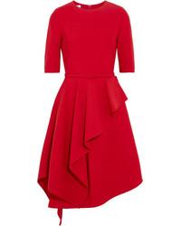 Vestido de vuelo de lana rojo