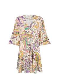 Vestido de vuelo de paisley en multicolor