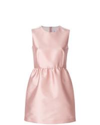Vestido de vuelo de satén rosado de RED Valentino