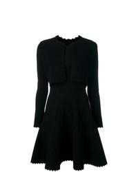 Vestido de vuelo negro de Alaïa Vintage