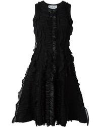 Vestido de vuelo negro de Dsquared2