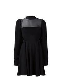 Vestido de vuelo negro de Philipp Plein
