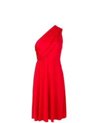 Vestido de vuelo rojo de Lanvin