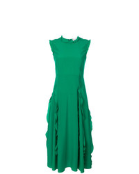 Vestido de vuelo verde de RED Valentino