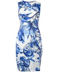 Vestido Estampado Azul de Versace