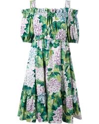 Vestido estampado verde de Dolce & Gabbana